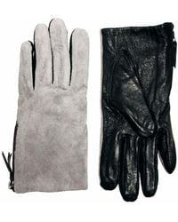 Boutique Moschino - Warehouse Suede Color Block Gloves - Lyst