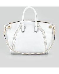 orYANY - Tanya Beadtrim Satchel Bag White - Lyst