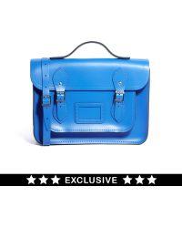 New Balance - Cambridge Satchel Exclusive To Asos Deep Blue 13 Satchel with Top Handle - Lyst