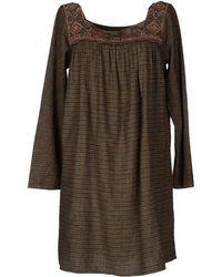 Antik Batik Khaki Short Dress - Lyst