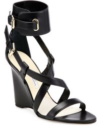Brian Atwood - Hegemone Leather Cuff Sandals - Lyst