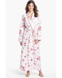 Carole Hochman Designs Fresco Roses Robe - Lyst