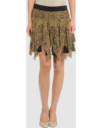 Catherine Malandrino Raw Edge Shredded Skirt - Lyst