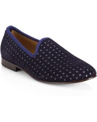 Del Toro Suede Prince Slippers - Lyst