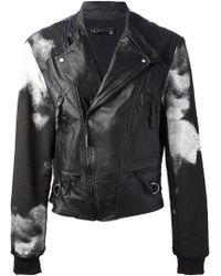 Horace - Terry Bleached Biker Jacket - Lyst