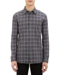 John Varvatos Plaid Shirt - Lyst