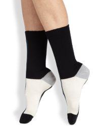 Maria La Rosa Colorblock Mid-Calf Socks - Lyst