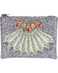 Mawi - Embellished Glitter Clutch - Lyst