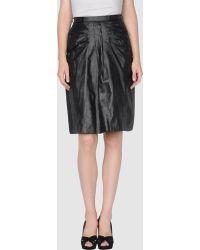 Peter Jensen Knee Length Skirt black - Lyst