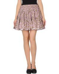 RED Valentino Mini Skirt - Lyst