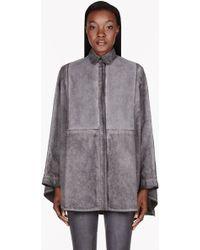 Silent - Damir Doma - Grey Washed Sati Kimono Shirt - Lyst