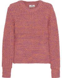 Acne Studios Lia Twist Chunky Knit Cotton Sweater - Lyst