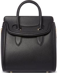 Alexander McQueen Heroine Grained Leather Tote - For Women - Lyst