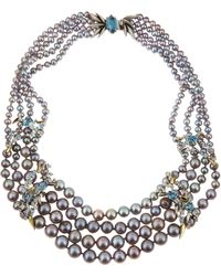 Alexis Bittar Fine - Midnight Marquise Pearl Necklace - Lyst