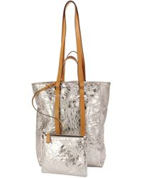 CoSTUME NATIONAL - Tokyo Crinkled Metallic Northsouth Tote Bag - Lyst