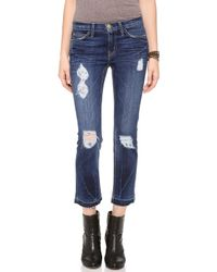 Current/Elliott The Cropped Straight Leg Jeans - Lyst