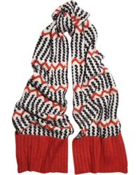 J.Crew | Float Stitch Patterned Knitted Scarf | Lyst