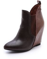 Jeffrey Campbell Harrison Wedge Booties - Lyst