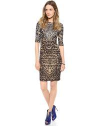 M Missoni Lurex Lizard Jacquard Dress - Lyst