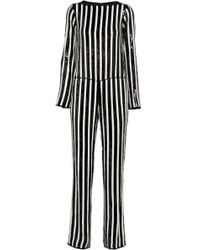 Marc Jacobs - Striped Sequined Chiffon Jumpsuit - Lyst
