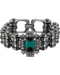 Mawi - Bike Chain Crystal Bracelet - Lyst