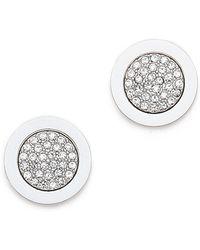 Michael Kors - Pave Slice Stud Earrings - Silver - Lyst