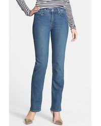 Nydj Maggie Stitched Pocket Stretch Straight Leg Jeans - Lyst