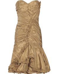 Oscar de la Renta Silk-Taffeta Dress - Lyst