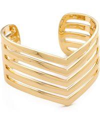 Paige Novick - 5 Row Pointed Cuff Bracelet - Lyst