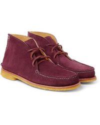 Quoddy - Wabanaki Crepesole Suede Chukka Boots - Lyst