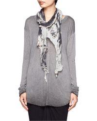 Raquel Allegra | Marble Print Lightweight Knit Scarf | Lyst