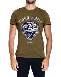 Roberto Cavalli - Just Cavalli Tshirt Short Sleeve Tiger Print - Lyst