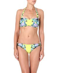 Seafolly Bella Rose Bandeau Bikini Top - Lyst