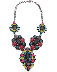 Deepa Gurnani | Colorful Stone Necklace | Lyst