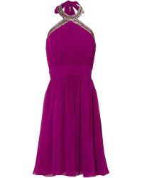 Jane Norman High Neck Prom Dress - Lyst