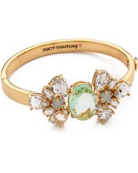 Juicy Couture - Pear Cut Hinged Bangle Bracelet - Lyst