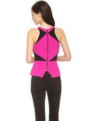 Madison Marcus - Chroma Colorblock Peplum Top - Lyst