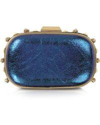 Patrizia Pepe - Magic Blue Mini Studded Clutch - Lyst