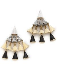 Sarah Magid | Agate Pave Cone Chandelier Earrings | Lyst