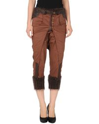 Sonia Villa 34length Trousers brown - Lyst