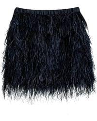 Cynthia Rowley Blue Feather Skirt - Lyst