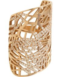 Repossi - Diamond Large Art Nouveau Ring - Lyst