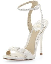B Brian Atwood Catena Studded Snake Anklewrap Sandal - Lyst
