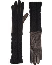 Barneys New York Long Cableknit Gloves - Lyst