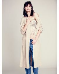 Free People Textured Trench Duster - Lyst