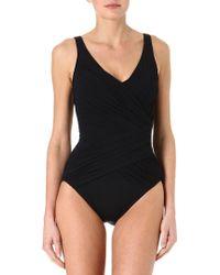 Gottex Goddess Surplice Swimsuit - Lyst