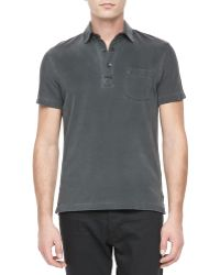Ralph Lauren Black Label Patchpocket Casual Polo - Lyst