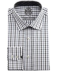 English Laundry Plaid Long Sleeve Dress Shirt - Lyst