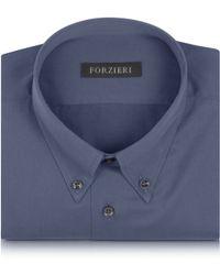 FORZIERI - Dark Grey Cotton Dress Shirt - Lyst