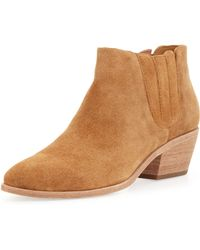 Joie Barlow Suede Stretch Ankle Boot - Lyst